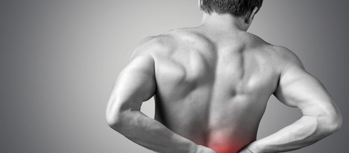 Pain back massage chiropractor spine man background